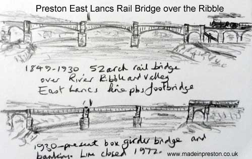 Preston East Lancs Railway Bridges, www.madeinpreston.co.uk