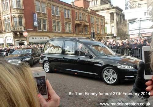 The funeral of Sir Tom Finney 27th February 2014