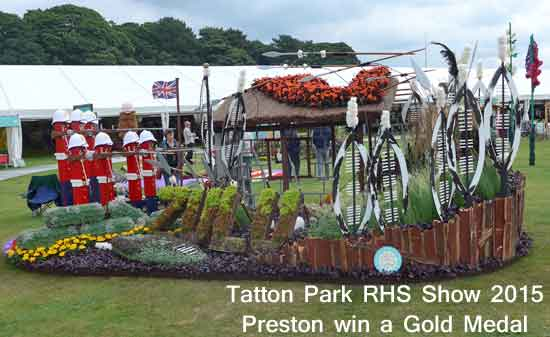 Preston win Gold Medal with Rourke's Drift at Tatton Park RHS Show 2015