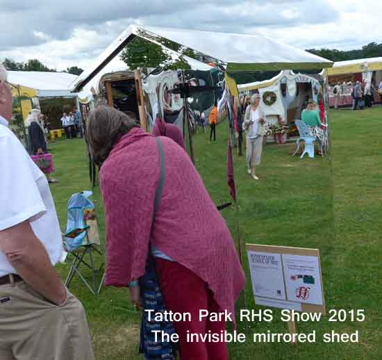 The mirrored shed at Tatton Park RHS Show 2015