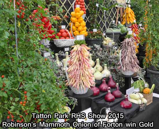 Robinson's Gold Medal at Tatton Park RHS Show 2015