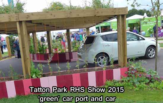 Green Car Port and Car at Tatton Park RHS Show 2015