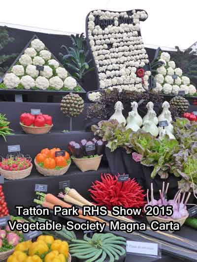 Vegetable Society Magna Carta at Tatton Park RHS Show 2015