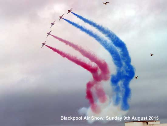 The Red Arrows at the Blackpool Air Show 2013