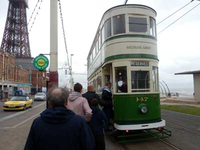 Blackpool Heritage Trams service on the day of Blackpool Totally Transport 2013