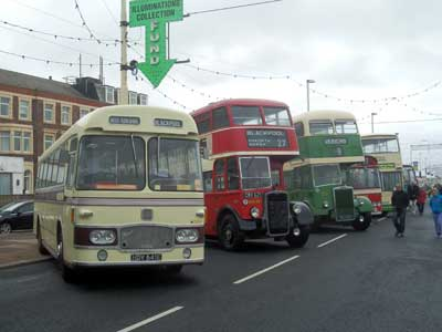 Blackpool Totally Transport 2013 mix of classic buses
