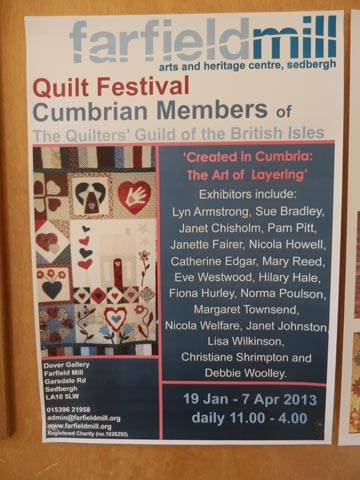 Farfield Mill, Contemporary Quilting Exhibition