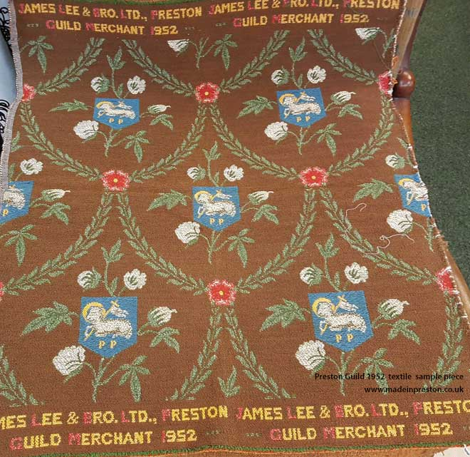 Preston Guild 1952 textile sample