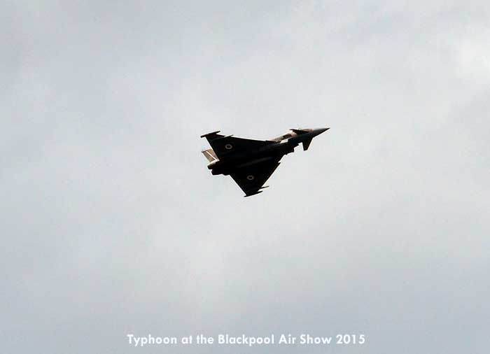 Typhoon at the Blackpool Air Show 2015