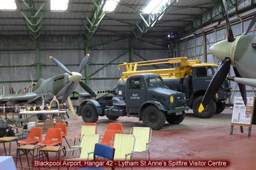 Blackpool Airport Hangar 42 Lytham St Annes Spitfire Visitor Centre