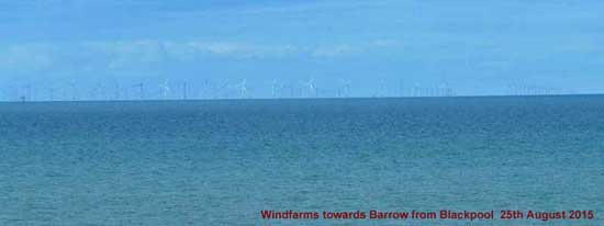 View of Windfarms from Blackpool