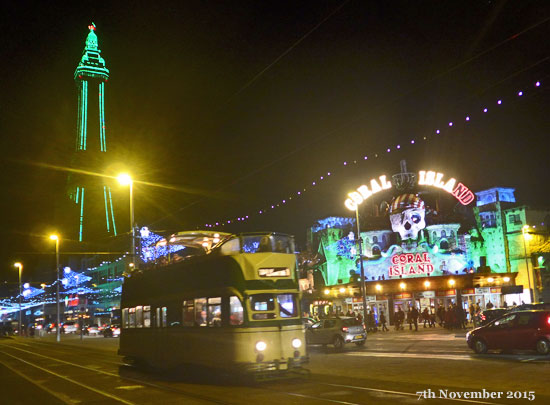 photo of English Electric tram 'Princess Alice' at Blackpool Illuminations