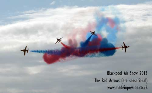 The Red Arrows at Blackpool 2013