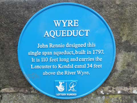 Blue Plaque for the aqueduct on the Lancaster Canal