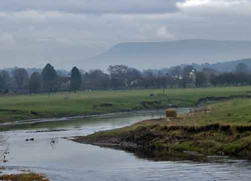 Pendle Hill from the Roman Museum, Ribchester