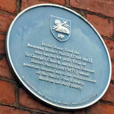 Blue Plaque for the Reverend Harris, Preston