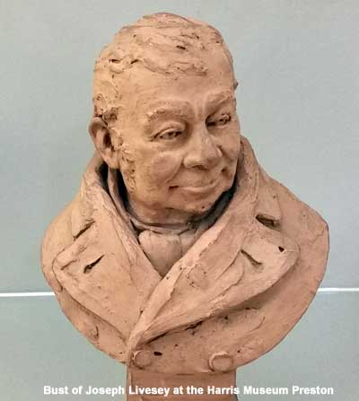 Bust of Joseph Livesey temperance pioneer at the Harris Museum