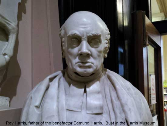 Bust of the Rev Harris in the Harris Museum, Preston