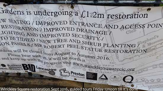 Winckley Square Preston Restoration Sept 2016
