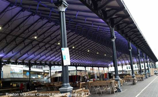 Preston Victorian Covered Market before its makeover Jan 2017