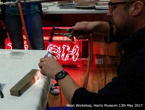 Neon Workshop at the Harris