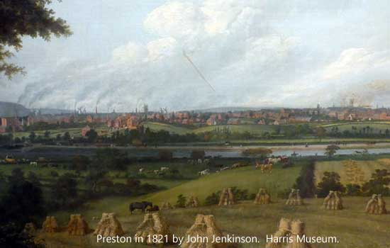 Preston in 1821 as painted by John Jenkinson