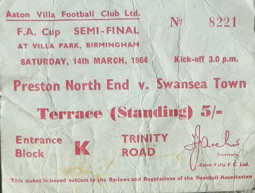 Preston v Swansea Semi Final 14th March 1964