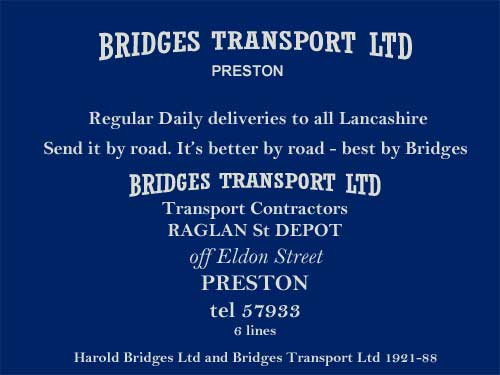 Bridges Transport Ltd, Preston